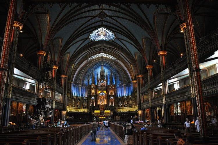 Собор Монреальской Богоматери - достопримечательности Монреаля