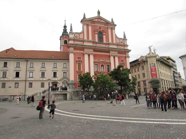 Францисканская церковь - достопримечательности Любляны