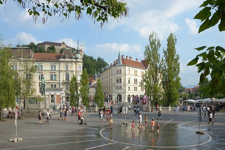 Площадь Прешерна - достопримечательности Любляны