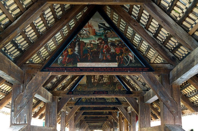 Мост Шпроербрюкке - достопримечательности Люцерна